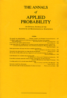 The Annals of Applied Probability Logo