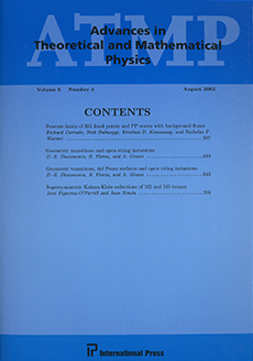 Advances in Theoretical and Mathematical Physics Logo