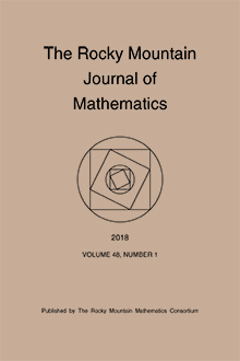 Rocky Mountain Journal of Mathematics Logo